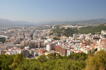 The view of Málaga