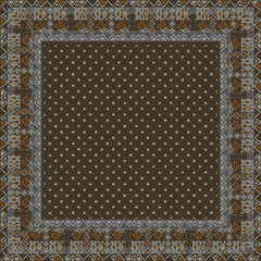 Ethnic seamless pattern with american indian traditional