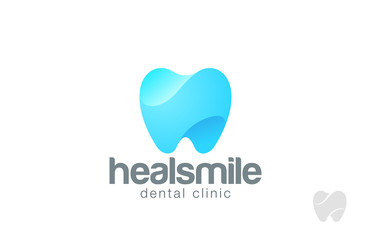 Dentist Logo tooth shape design vector template...Dental Clinic