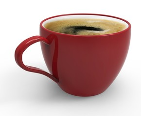 coffee cup with coffee