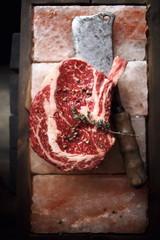 Raw fresh maarbled beef