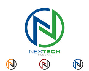 N : Letter : Logo Template V20