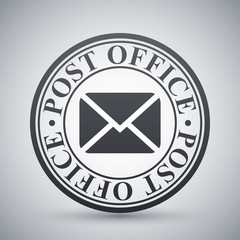 Vector postal stamp icon