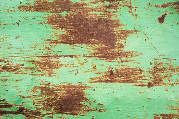aged green metal surface