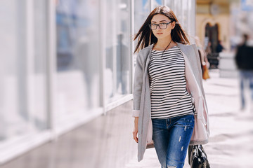 beautiful young fashion girl