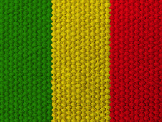 Rasta colors silk fabric background