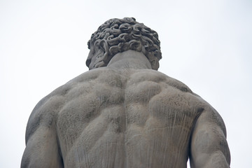 Hercules statue seen from behind Wall mural
