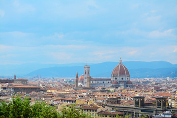 Florence panorama on a clear day