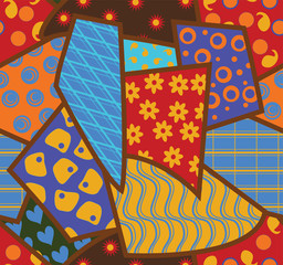 Patchwork seamless background