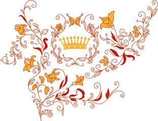 Rococo style ornament