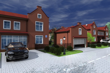 Проект реконструкции блокированного жилого дома