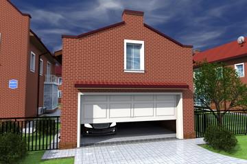 Проект гаража в стиле дома