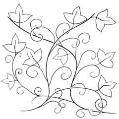Vector doodle floral pattern. 11