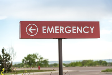 Emergency sign leading to the hospital