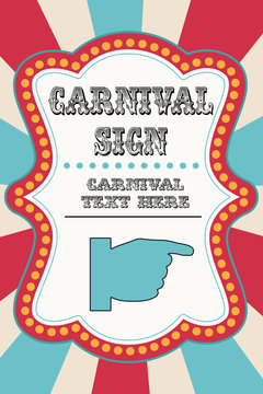 Carnival sign template