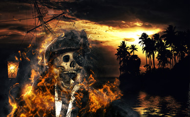 Pirate in the caribbeans