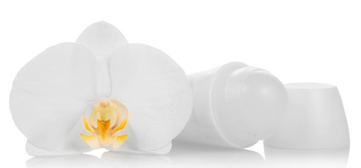 Deodorant and orchid flower