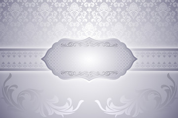 Decorative vintage backround with frame.