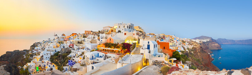 Self adhesive Wall Murals Santorini Santorini sunset (Oia) - Greece