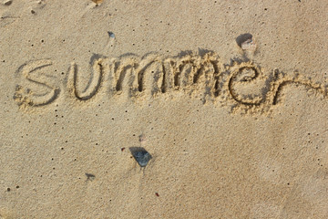 summer handwritten
