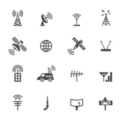 antenna and satellite icons