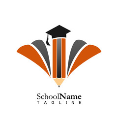 School education logo icon vector