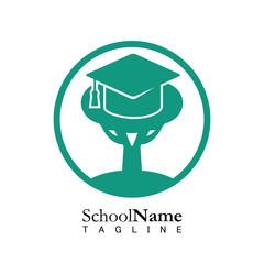 School education logo icon vector