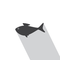Fish in flat style