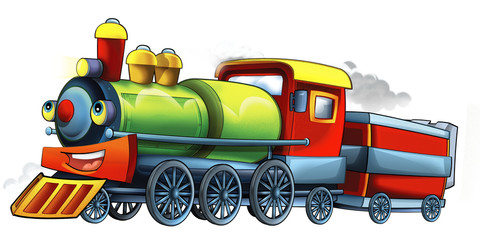 Cartoon train - illustration for the children