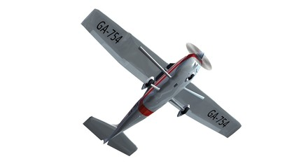 most popular single propeller light aircraft isolated