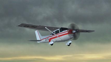 most popular single propeller light aircraft fly in thunder
