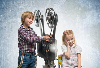 Children in a cinema