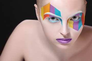 Creative fashion make-up