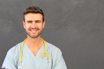 Portrait of a nurse with a perfect smile
