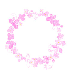 Hand painted Watercolor flowers wreath