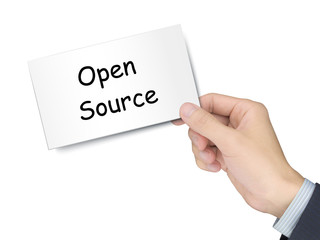 open source card in hand