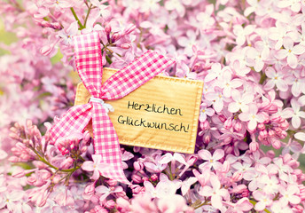 blossom flower greeting card background - congratulations