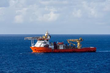Orange Industrial Ship