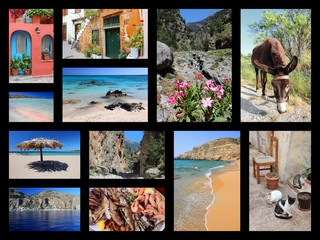 Crete landmarks - travel postcard