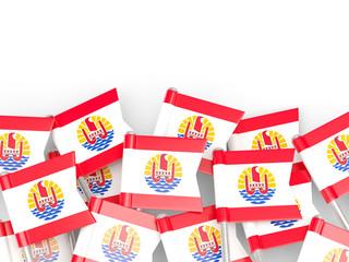 Flag pin of french polynesia