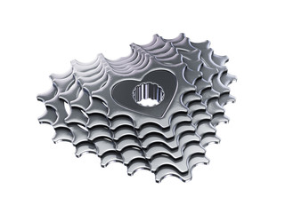 love my bike cassette in heart shape