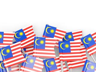 Flag pin of malaysia