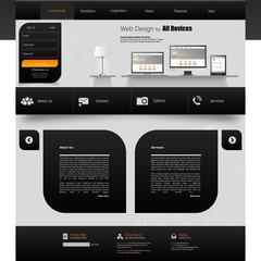 Website Template. Creative web design