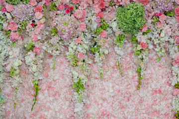 Background of Beautiful flower wedding decoration