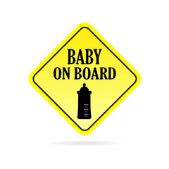 baby on board traffic vector