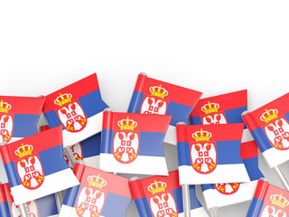 Flag pin of serbia