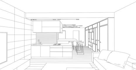 Interior. Architectural design.