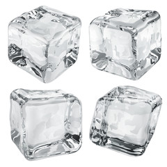 Opaque gray ice cubes