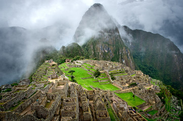 Machu Picchu in Peru. UNESCO World Heritage Site