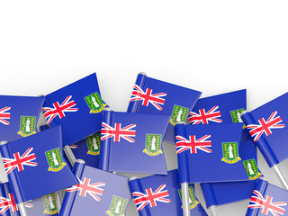 Flag pin of virgin islands british